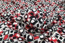 Košilovina červenočernobílá š.150