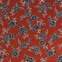 Úplet rezavý, černý květinový vzor, š.150