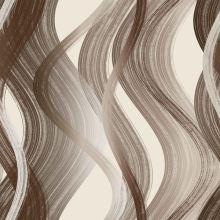 Dimout béžový, hnedé vlny, š.150
