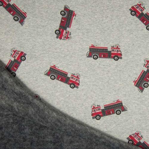 Warmkeeper šedý, hasičské autá, š.145