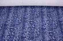 Úplet modrý, zvířecí vzor, š.145