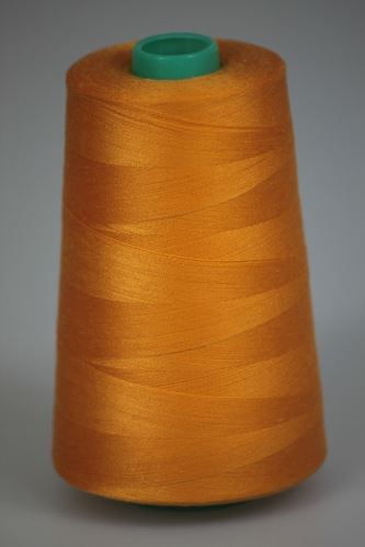 Niť KORALLI polyesterová 120, 5000Y, odtieň 2130, žltá