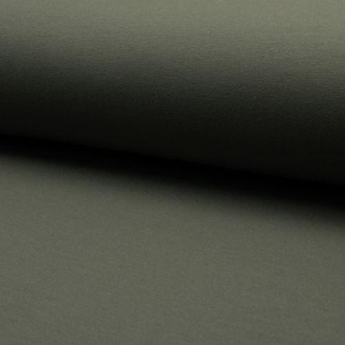 Teplákovina počesaná, khaki, š.155