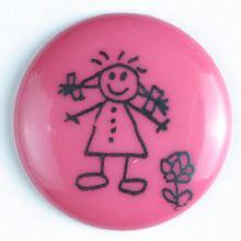 Knoflík dětský růžový 211424, 15mm