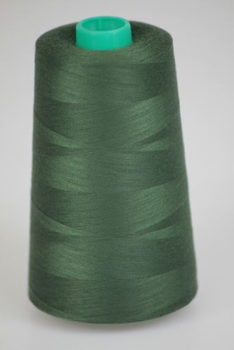 Niť KORALLI polyesterová 120, 5000Y, odtieň 6850, zelená