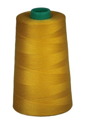 Niť KORALLI polyesterová 120, 5000Y, odtieň 1360, žltá