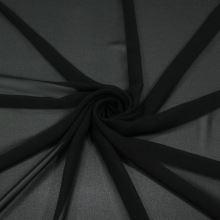Šifon černý BW397, š.145