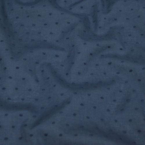 Košilovina modrá, vzor nopky, š.140