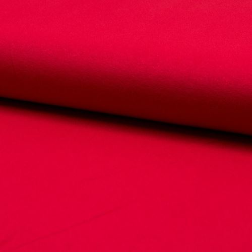 Úplet žoržet DE LUXE červený, 260g/m, š.145