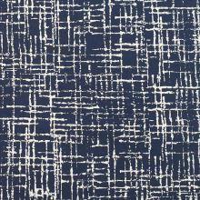 Kostýmovka N4258, modro bílý vzor, š.145