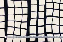 Bavlna fialovo-čierno-biela, š.150
