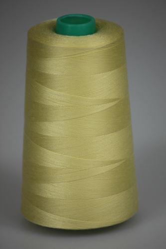 Niť KORALLI polyesterová 120, 5000Y, odtieň 1240, žltá