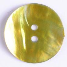 Knoflík perleťový zelený 241114, 13mm