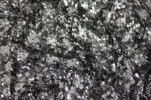 Flitre čierno-strieborné kvety š.130