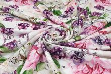 Úplet bílý, růže a ostružiny, š.175