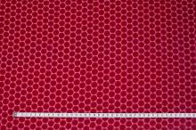 Šifón ružový, zamatové bodky, š.135