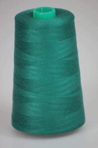 Niť KORALLI polyesterová 120, 5000Y, odtieň 6440, zelená