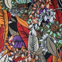 Úplet pestrobarevný, květy a listy, š.160