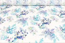 Šatovka 19709 bílá, modrý vzor, š.140