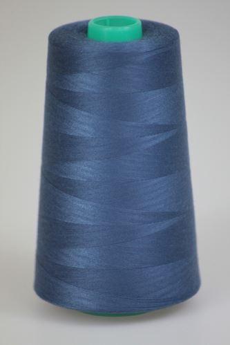 Niť KORALLI polyesterová 120, 5000Y, odtieň 5480, modrá
