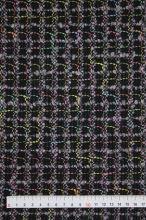 Kostýmovka černá, barevné káro š.165