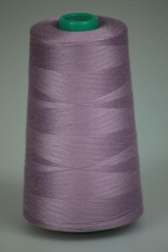 Niť KORALLI polyesterová 120, 5000, odtieň 4530, fialová-ružová