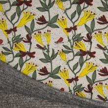 Warmkeeper šedý, květiny s motýly , š.145