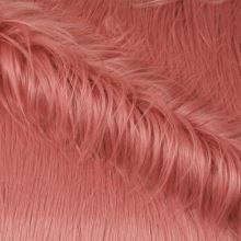 Umelá kožušina ružová s dlhým vlasom, š.155