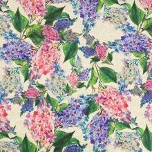 Dekorační látka P0568, květy šeříku, š.140