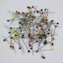 Špendlíky se skleněnou hlavičkou 0,60x30mm, 10g