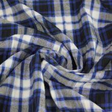 Košilovina káro modrá-bílá-šedá, š.145