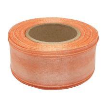 Stuha monofilová s vlascem oranžová, šíře 25mm, 25m