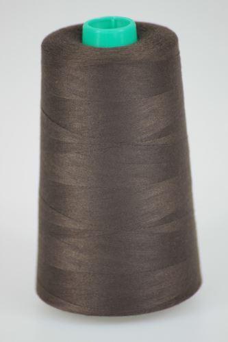Nit KORALLI polyesterová 120, 5000Y, odstín 8590, hnědá