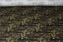Bavlna žltý vzor, š.145