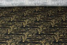 Bavlna žlutý vzor, š.145