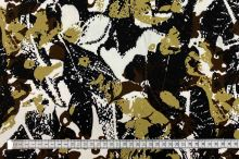 Šatovka N1246 bielo-čierno-hnedý vzor, š.145