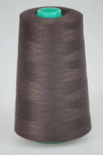 Niť KORALLI polyesterová 120, 5000Y, odtieň 8370, hnedá