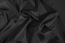 Podšívka černá, bílý puntík š.145
