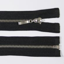 Zip kovový 4mm chrom délka 60cm, barva 332 (dělitelný)