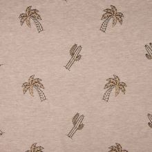 Úplet taupe melanž, palmy a kaktusy, š.145