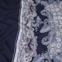 Šatovka modrá, šátkový vzor, š.135