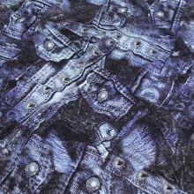 Úplet modrošedý denim 15857, š.145