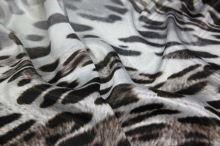 Satén animal, hnedo-čierne škvrny, š.150