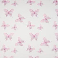Úplet 21778 bílý, růžoví motýlci, š.145