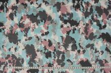 Šifon barevný, mapy, š.150