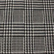 Kabátovina čierno-biele pepito, š.155