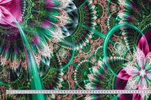 Úplet zeleno-růžový abstraktní vzor, š.175