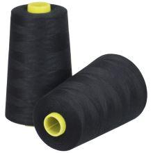 Nit LEON polyesterová 120, 5000Y, odstín 0101, černá