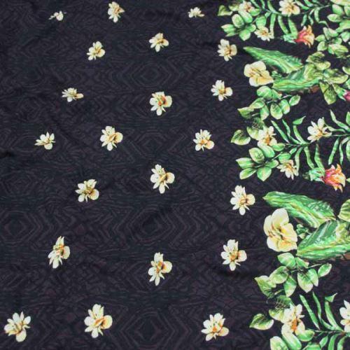 Úplet tmavo vínový 15885, kvetinová bordúra, š.155