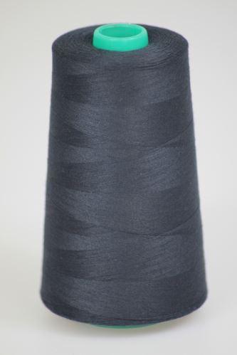 Niť KORALLI polyesterová 120, 5000Y, odtieň 5690, čierna-modrá